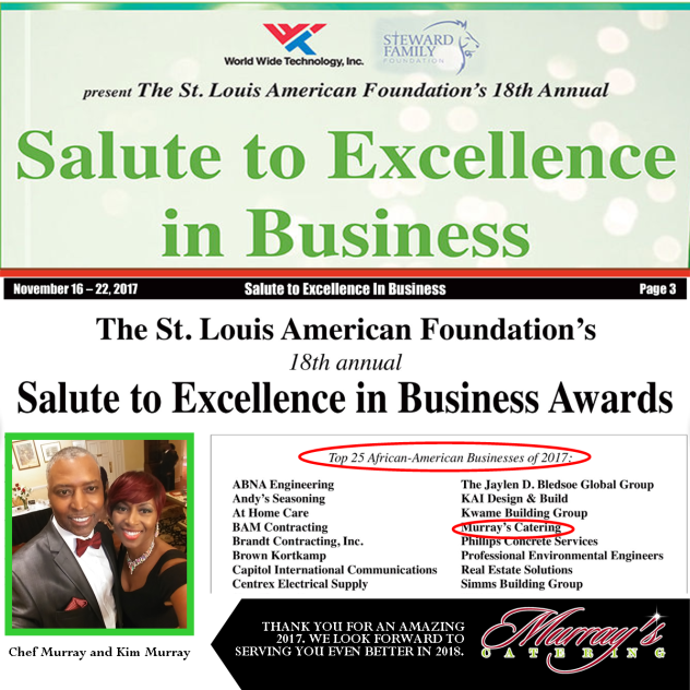Murray's Catering - St. Louis American Salute To Excellence In Business 2017 - TOP 25 - FLYER